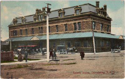 , Railway Station, Charlottetown, P.E.I. (0202), PEI Postcards