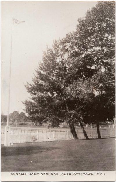 , Cundall Home Grounds, Charlottetown, P.E.I. (0184), PEI Postcards