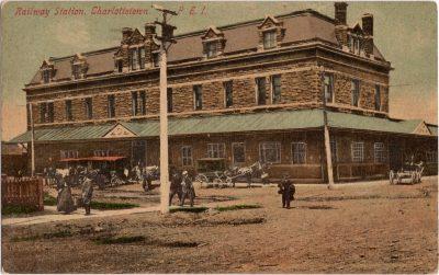 , Railway Station, Charlottetown, P.E.I. (0198), PEI Postcards