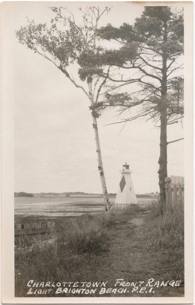 , Charlottetown Front Range Light Brighton Beach, P.E.I. (0195), PEI Postcards