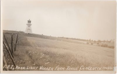 , P.E.I., Rear light. Warren Farm Range Charlottetown (0193), PEI Postcards
