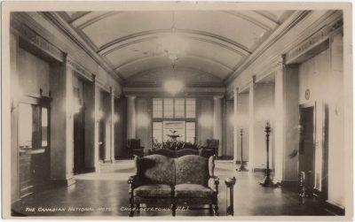 , The Canadian National Hotel, Charlottetown, P.E.I. / Rotunda The Canadian National Hotel     Charlottetown P.E.I. Canada (0227), PEI Postcards