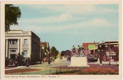 , Great George Street, Charlottetown, P.E.I., Canada (0233), PEI Postcards