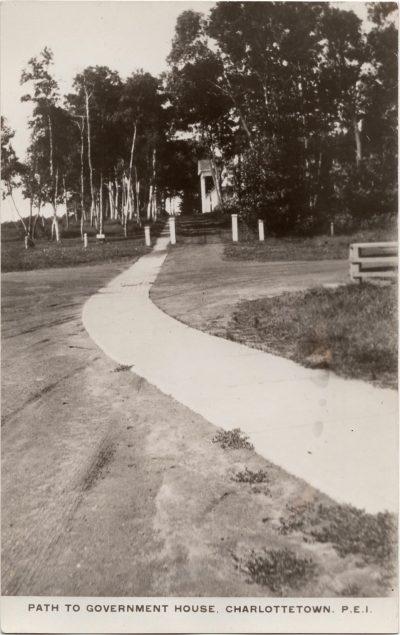 , Path to Government House, Charlottetown, P.E.I. (0235), PEI Postcards