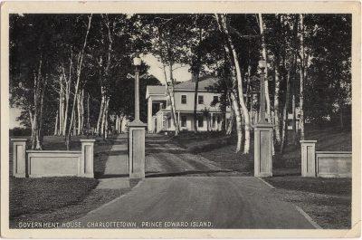 , Government House, Charlottetown, Prince Edward Island (0220), PEI Postcards