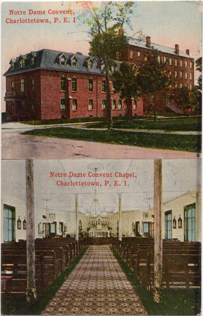 , Notre Dame Convent, Charlottetown, P.E.I. – Notre Dame Convent Chapel, Charlottetown, P.E.I. (0216), PEI Postcards