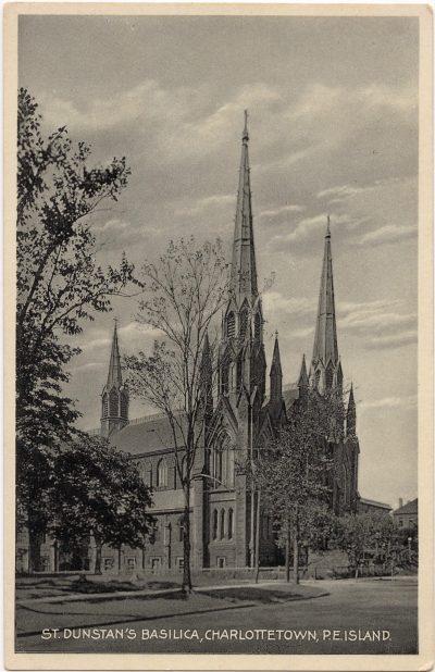 , St. Dunstan's Basilica, Charlottetown, P.E. Island (0253), PEI Postcards