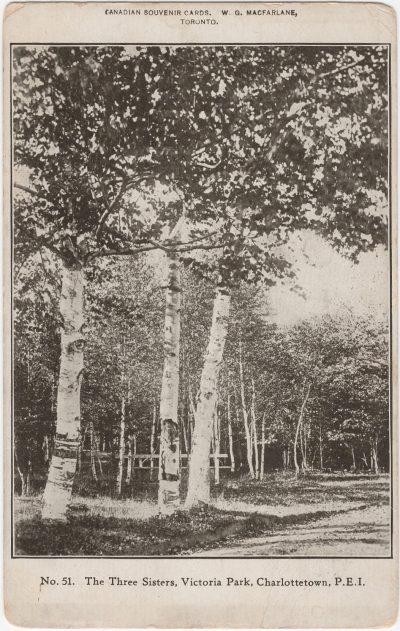 , The Three Sisters, Victoria Park, Charlottetown, P.E.I. (0249), PEI Postcards