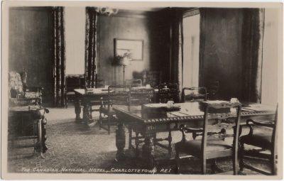 , The Canadian National Hotel, Charlottetown, P.E.I. / Writing Room The Canadian National Hotel     Charlottetown P.E.I. Canada (0245), PEI Postcards