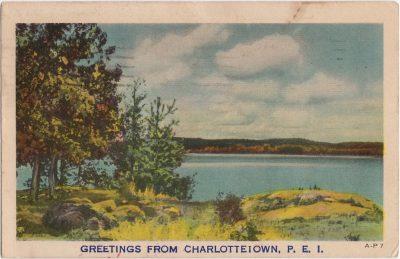 , Greetings from Charlottetown, P.E.I. (0243), PEI Postcards