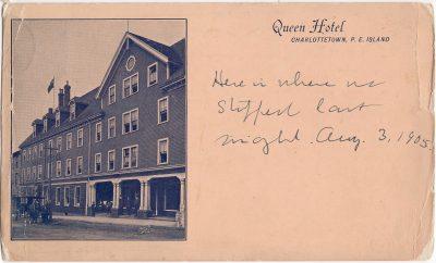 , Queen Hotel Charlottetwn, P.E. Island (0242), PEI Postcards