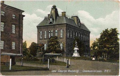 , Law Courts Building, Charlothtown {sp}, P.E.I. (0240), PEI Postcards