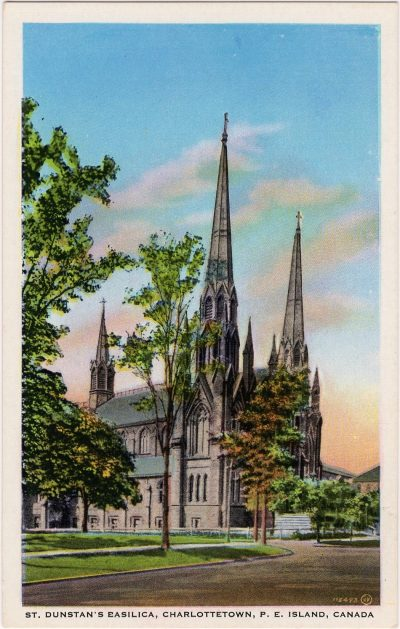 , St. Dunstan's Basilica, Charlottetown, P.E. Island, Canada (0302), PEI Postcards
