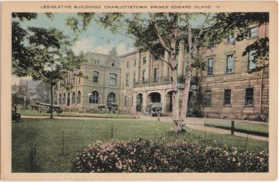 , Legislative Buildings, Charlottetown, Prince Edward island (0298), PEI Postcards