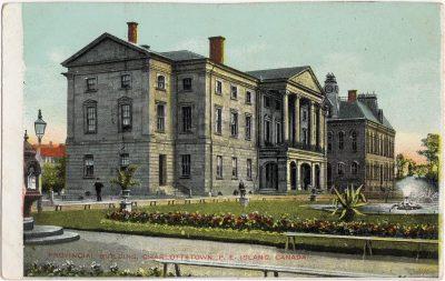 , Provincial Building, Charlottetown, P.E. Island, Canada (0297), PEI Postcards