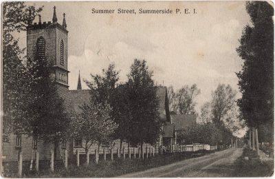 , Summer Street, Summerside, P.E.I. (0295), PEI Postcards