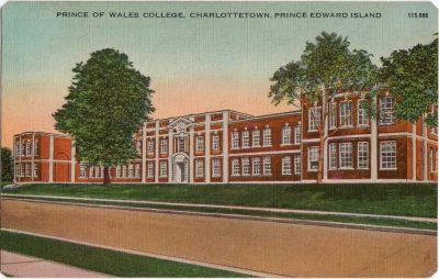 , Prince of Wales College, Charlottetown, Prince Edward Island (0292), PEI Postcards
