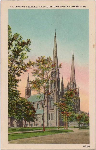 , St. Dunstan's Basilica, Charlottetown, Prince Edward Island (0303), PEI Postcards