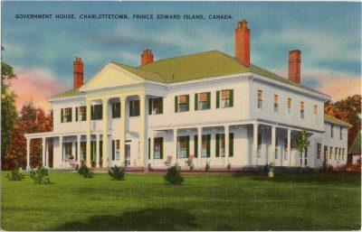 , Government House, Charlottetown, Prince Edward Island, Canada. (0289), PEI Postcards