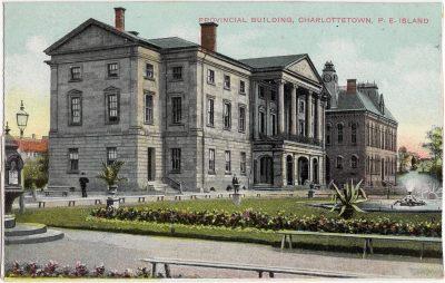 , Provincial Building, Charlottetown, P.E. Island. (0288), PEI Postcards