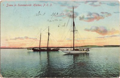 , Scene in Summerside Harbor, P.E.I. (0284), PEI Postcards