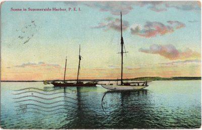 , Scene in Summerside Harbor, P.E.I. (0285), PEI Postcards
