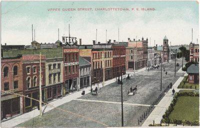 , Upper Queen Street, Charlottetown, P.E. Island. (0283), PEI Postcards