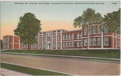 , Prince of Wales College, Charlottetown, Prince Edward Island (0281), PEI Postcards