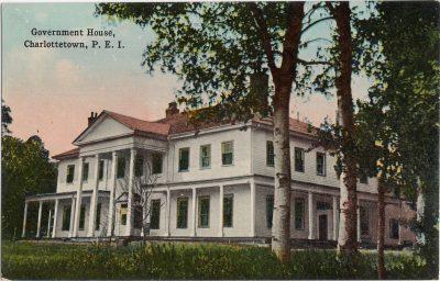 , Government House, Charlottetown, P.E.I. (0283), PEI Postcards