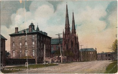 , View of Great George Street, Charlottetown, P.E.I. (0278), PEI Postcards