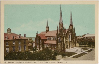 , St. Dunstan's Cathedral, Charlottetown, Prince Edward Island, Canada. (0273), PEI Postcards