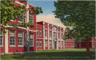 , Prince of Wales College, Charlottetown, Prince Edward Island (0275), PEI Postcards