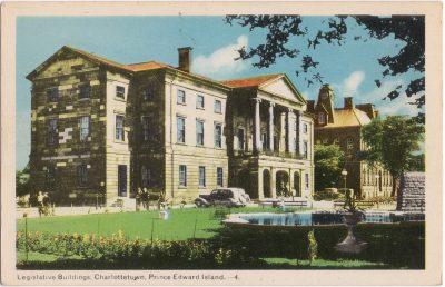 , Legislative Buildings, Charlottetown, Prince Edward Island. (0270), PEI Postcards
