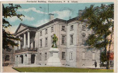 , Provincial Building, Charlottetown, P.E. Island (0268), PEI Postcards