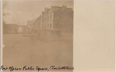 , Post Office & Public Square, Charlottetown (0265), PEI Postcards