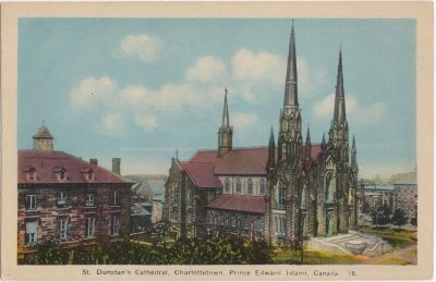 , St. Dunstan's Cathedral, Charlottetown, Prince Edward Island, Canada (0264), PEI Postcards