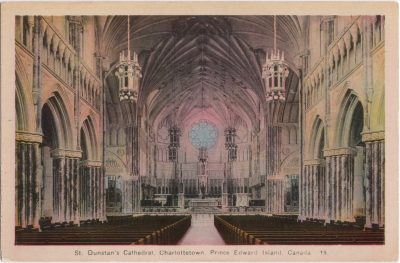 , St. Dunstan's Cathedral, Charlottetown, Prince Edward Island, Canada (0267), PEI Postcards
