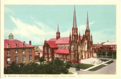, St. Dunstan's Cathedral, Charlottetown, Prince Edward Island, Canada. (0311), PEI Postcards