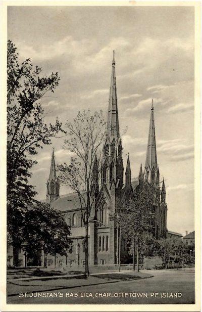 , St. Dunstan's Basilica, Charlottetown, P.E. Island (0346), PEI Postcards