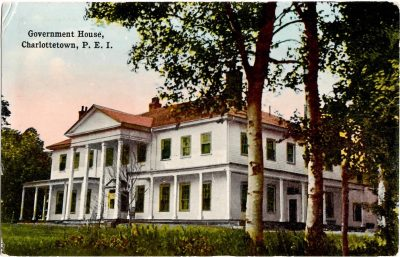 , Government House, Charlottetown, P.E.I. (0378), PEI Postcards