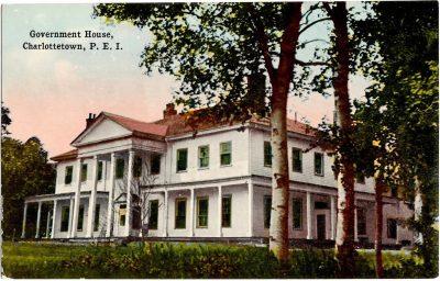 , Government House, Charlottetown, P.E.I. (0379), PEI Postcards
