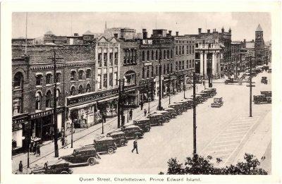 , Queen Street, Charlottetown, Prince Edward Island. (0382), PEI Postcards