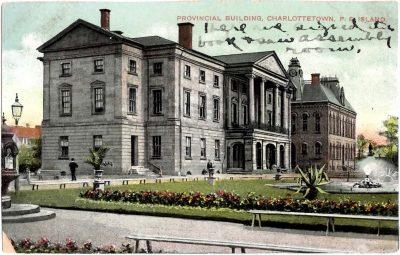 , Provincial Bulding, Charlottetown, P.E. Island (0375), PEI Postcards