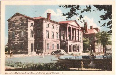 , Legislative Buildings, Charlottetown, Prince Edward Island. (0368), PEI Postcards