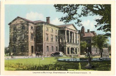 , Legislative Buildings, Charlottetown, Prince Edward Island. (0371), PEI Postcards