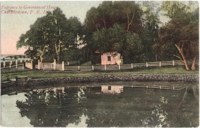 , Entrance to Government House, Charlottetown, P.E.I. (0364), PEI Postcards