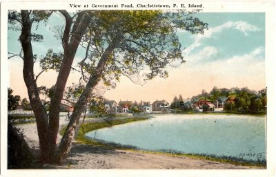 , View at Government Pond, Charlottetown, P.E. Island (0366), PEI Postcards