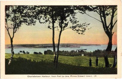 , Charlottetown Harbour, from Fort La Joie, Prince Edward Island. (0363), PEI Postcards