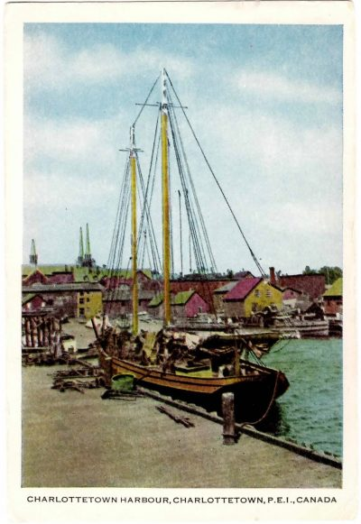 , Charlottetown Harbour, Charlottetown, P.E.I. Canada. [Savings Bonds} (0360), PEI Postcards