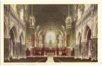 , St. Dunstan's Cathedral, Charlottetown, Prince Edward Island. (0352), PEI Postcards